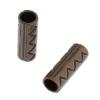 Metal Bead Cylinder Fancy 18x6mm Antique Copper